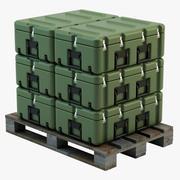 Military Case on Pallet 3d model