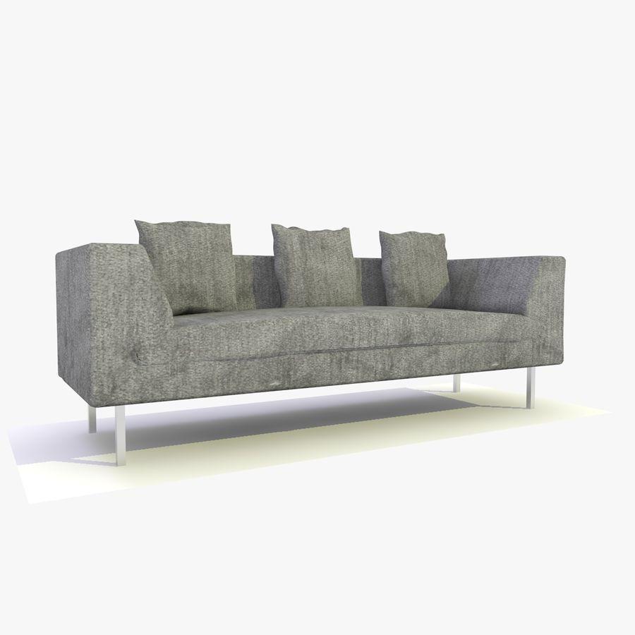 Sofa-Stuhl royalty-free 3d model - Preview no. 2