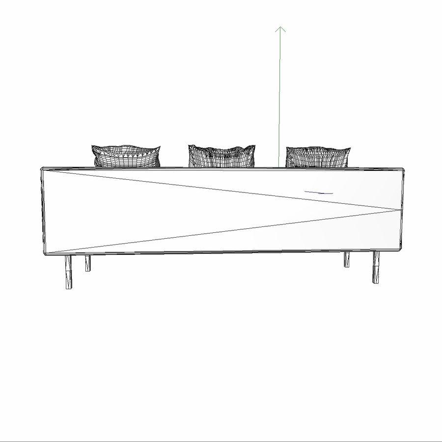 Sofa-Stuhl royalty-free 3d model - Preview no. 15