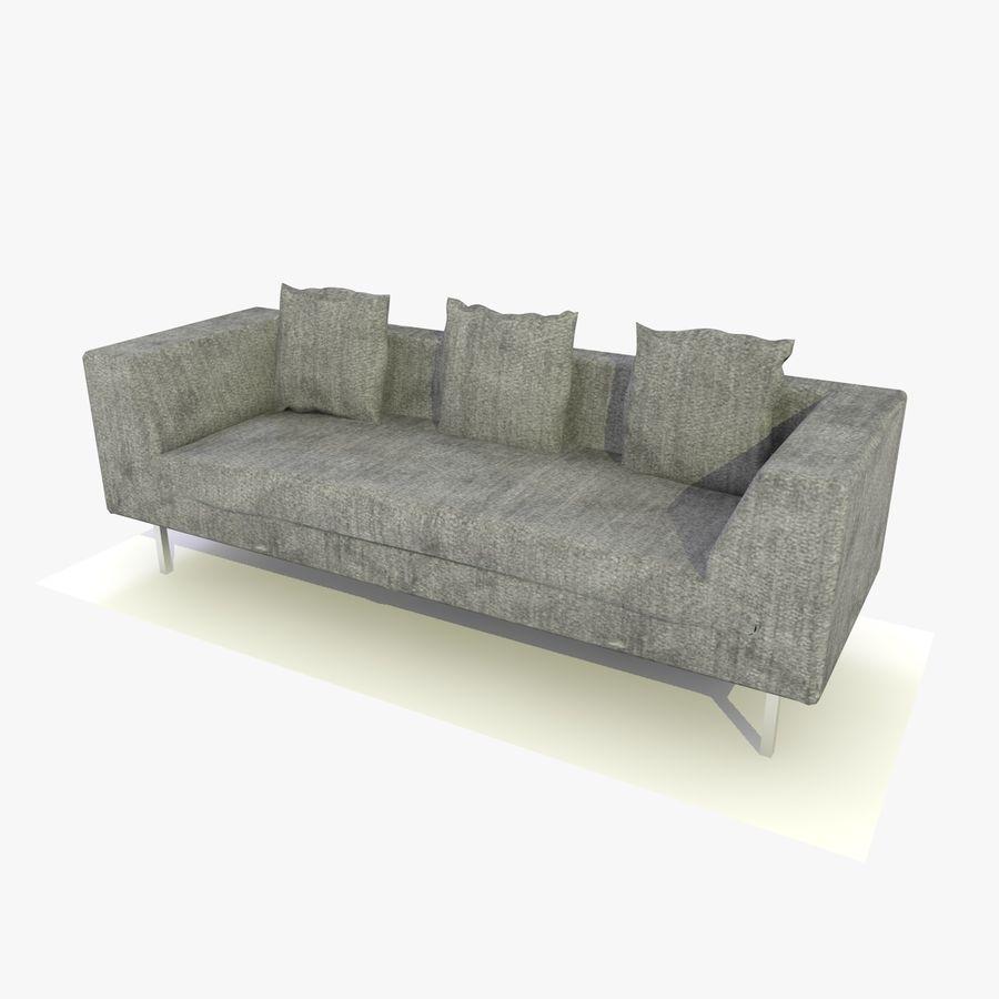 Sofa-Stuhl royalty-free 3d model - Preview no. 12