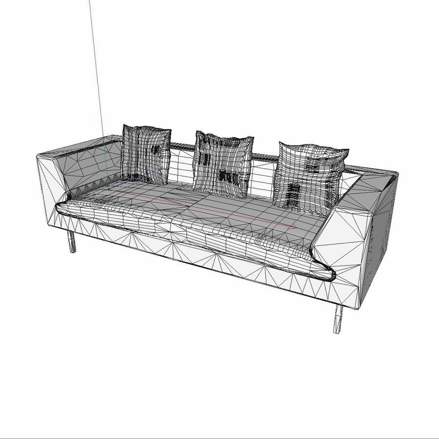 Sofa-Stuhl royalty-free 3d model - Preview no. 13