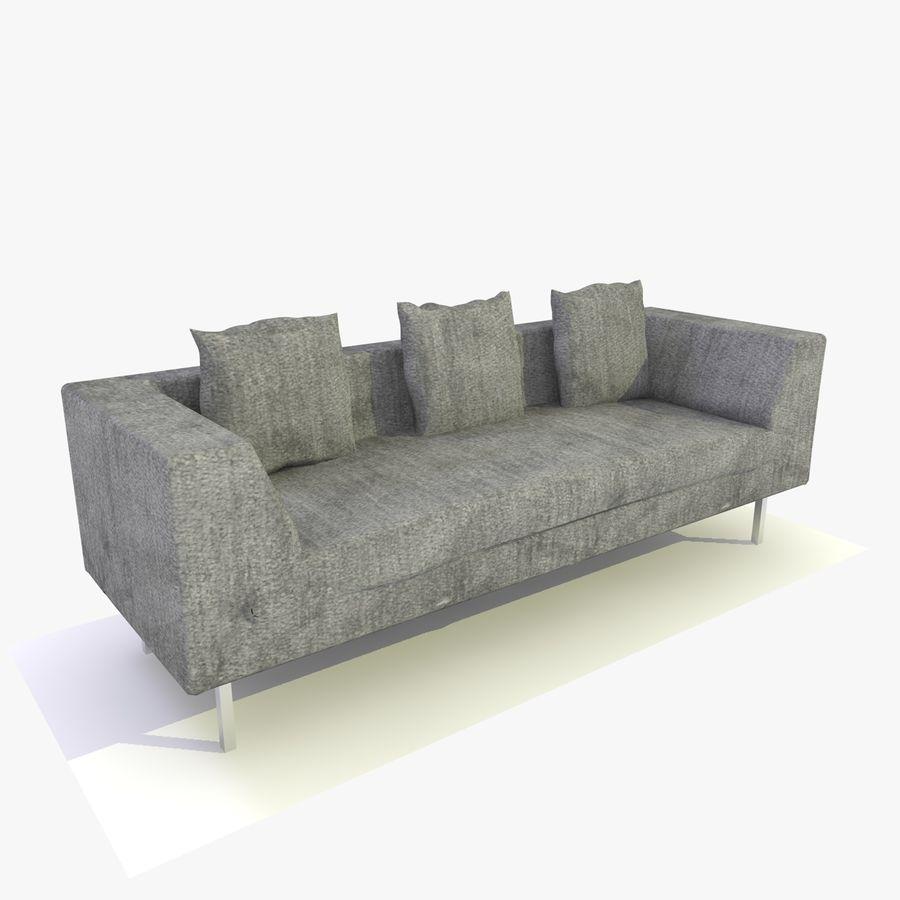 Sofa-Stuhl royalty-free 3d model - Preview no. 5