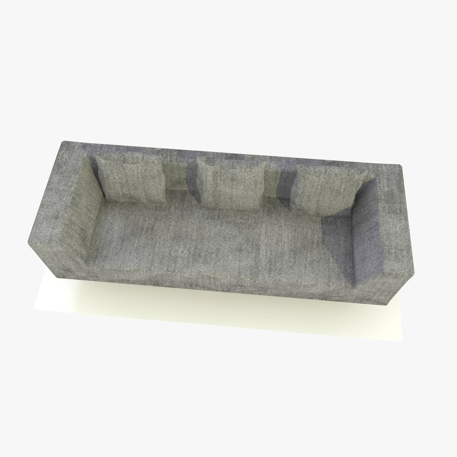 Sofa-Stuhl royalty-free 3d model - Preview no. 10