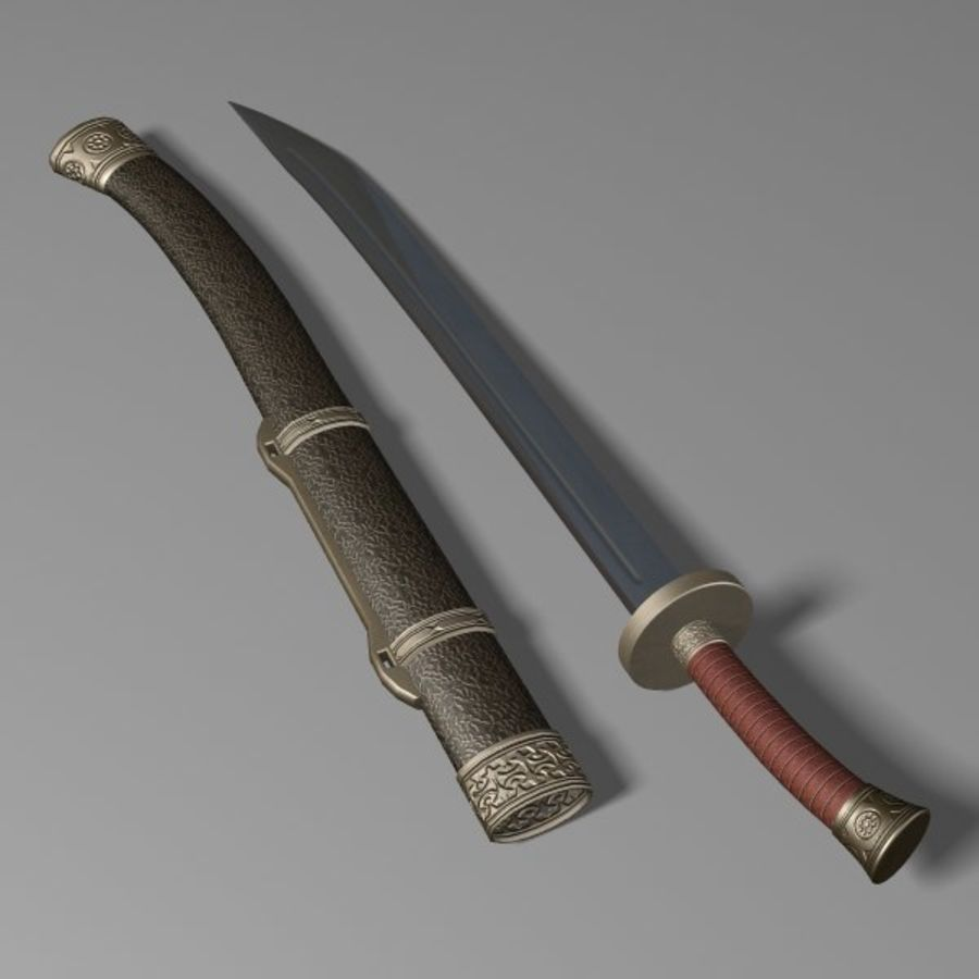 Dao Sword royalty-free 3d model - Preview no. 5