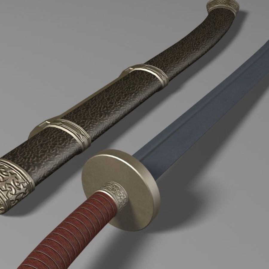 Dao Sword royalty-free 3d model - Preview no. 6