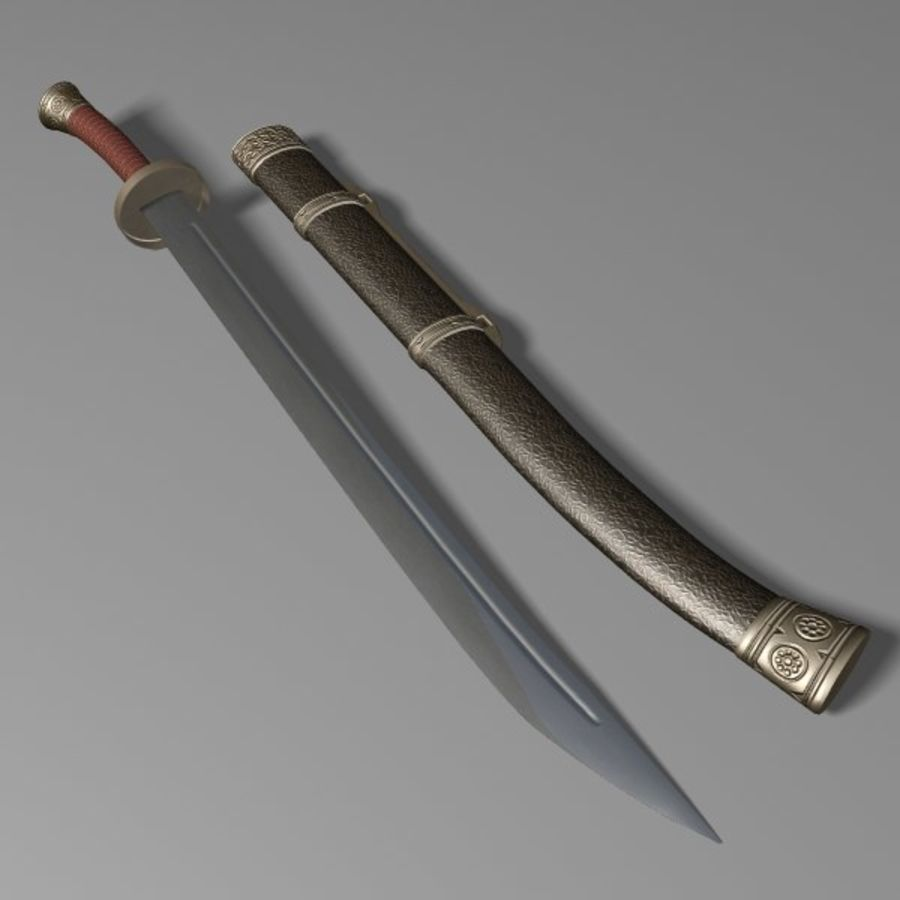 Dao Sword royalty-free 3d model - Preview no. 2