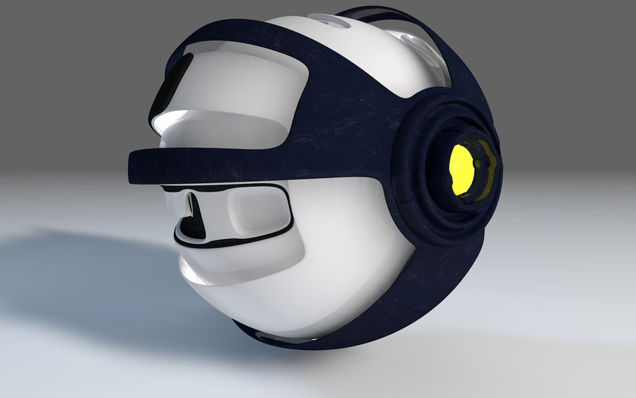 Robot Drone royalty-free 3d model - Preview no. 4