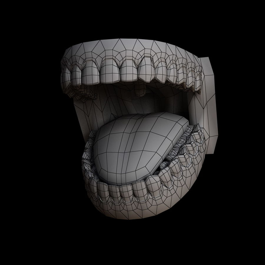 人类的牙齿 royalty-free 3d model - Preview no. 12