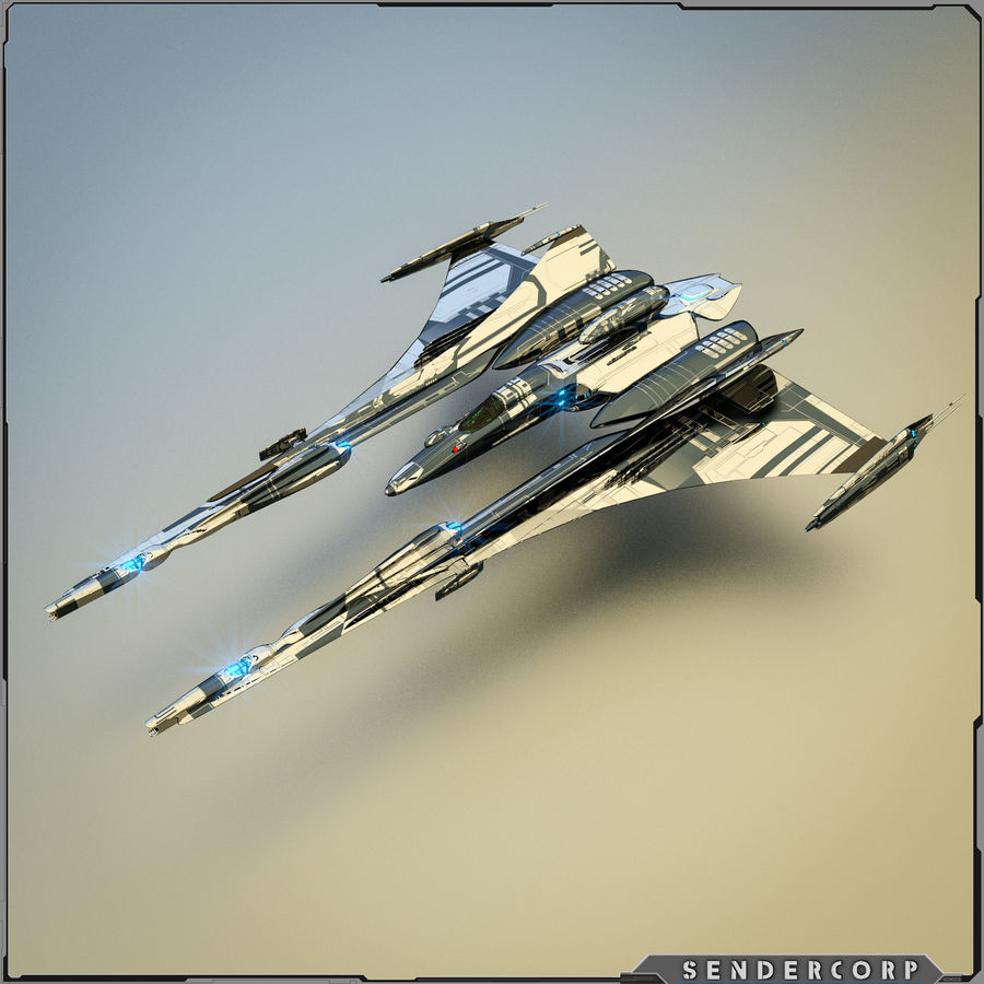 Gunship royalty-free 3d model - Preview no. 2