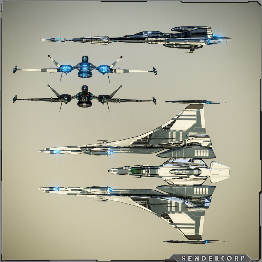 Gunship royalty-free 3d model - Preview no. 7