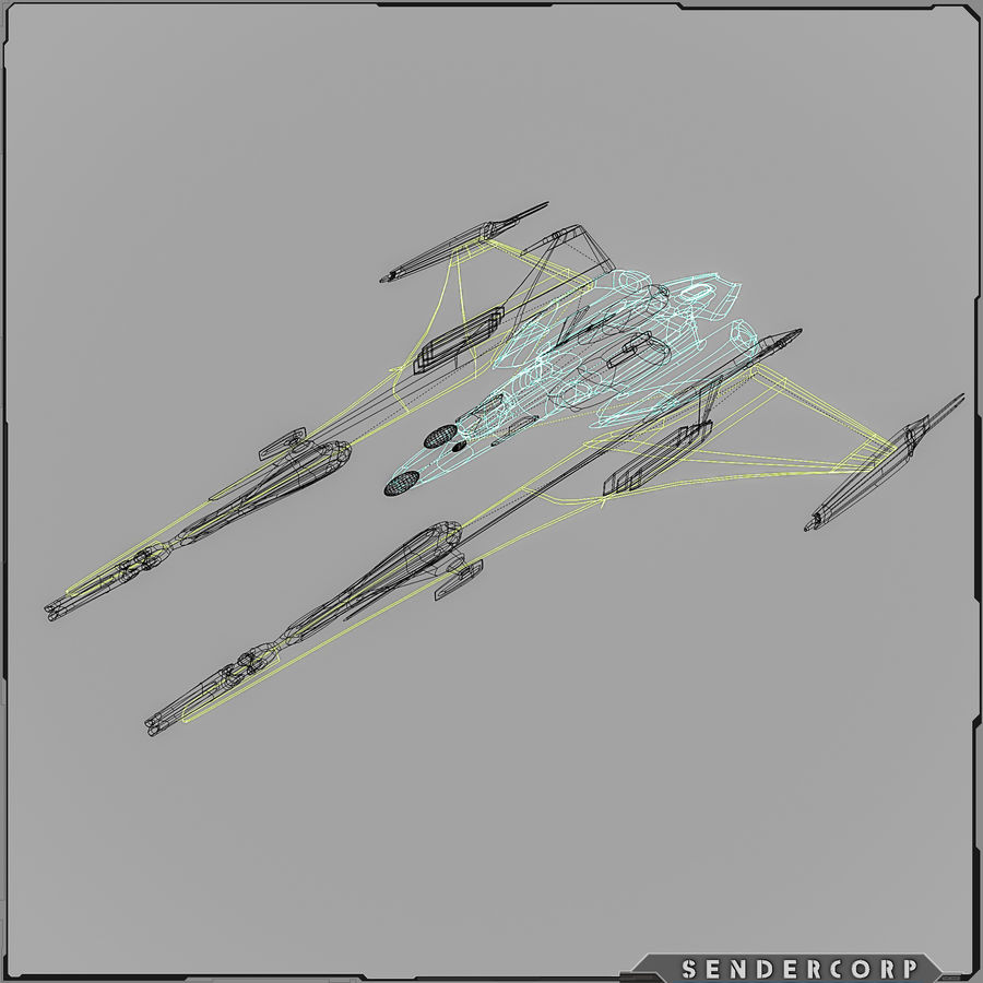 Gunship royalty-free 3d model - Preview no. 5