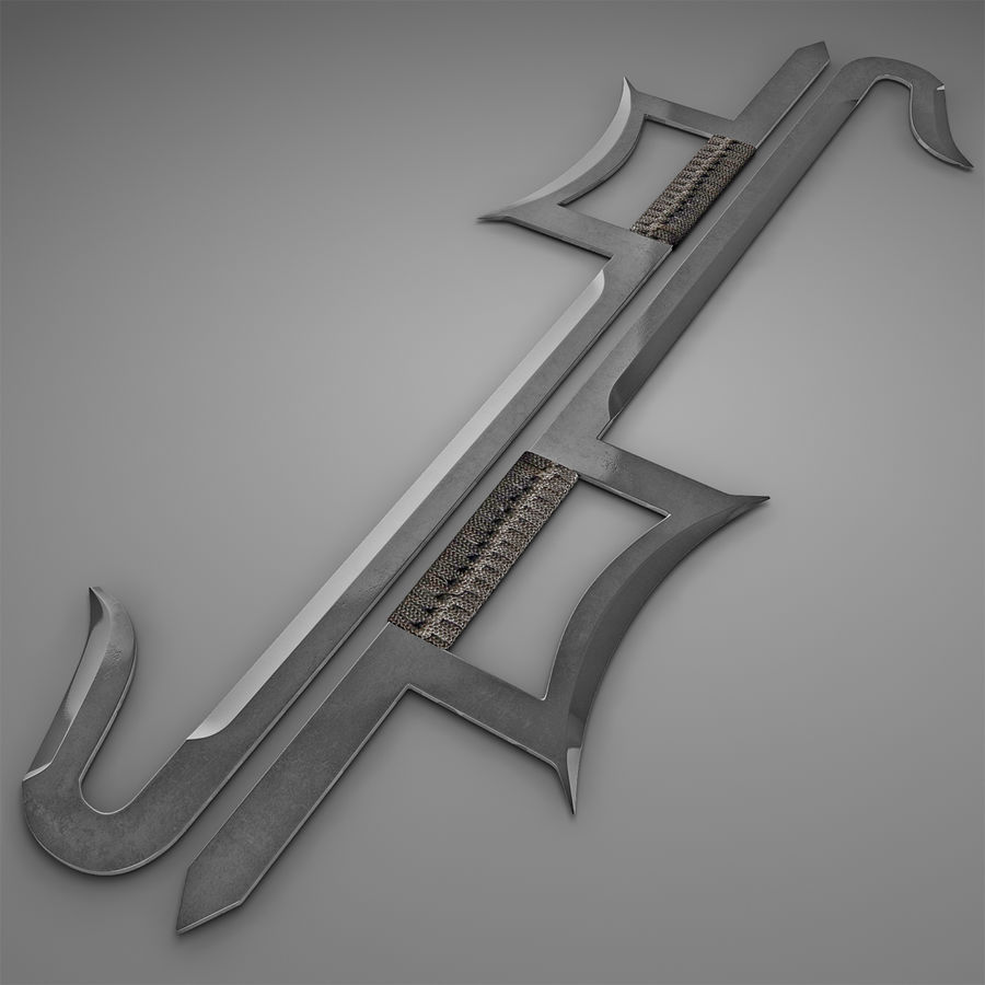 Hook Sword royalty-free 3d model - Preview no. 2
