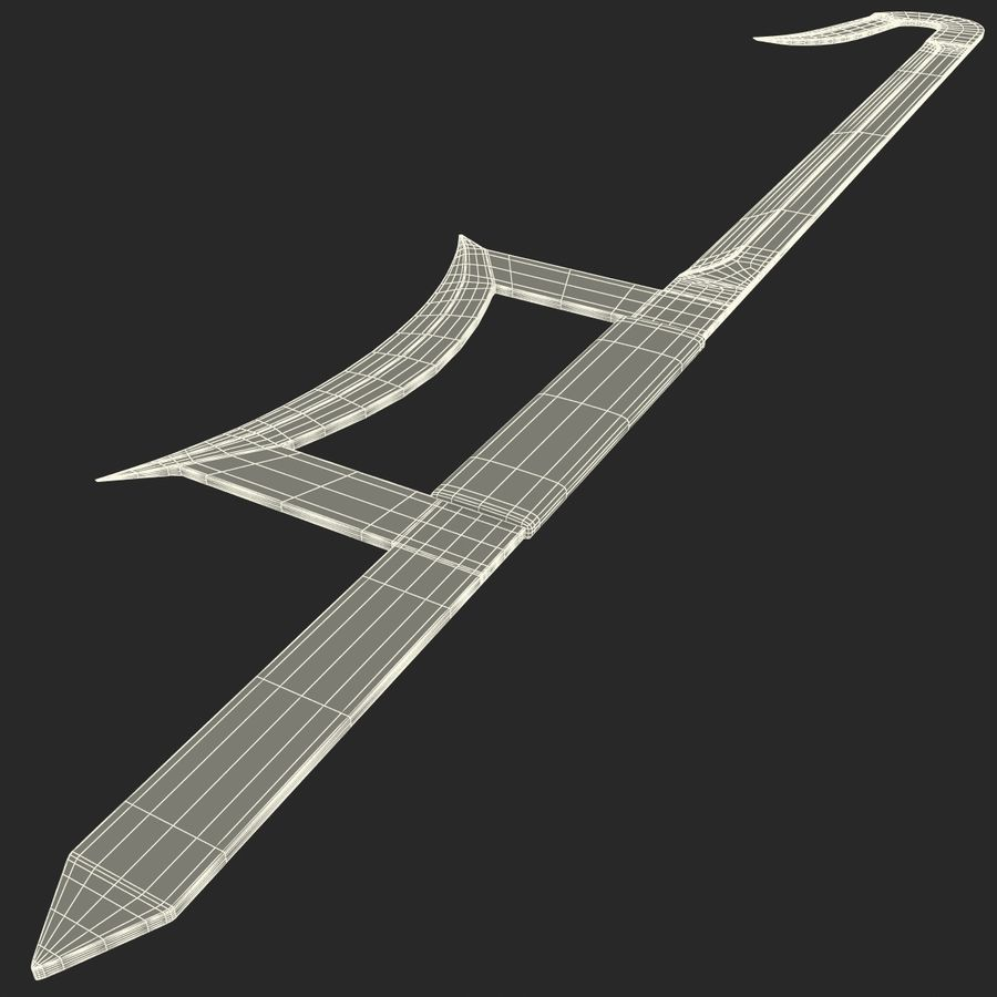 Hook Sword royalty-free 3d model - Preview no. 11