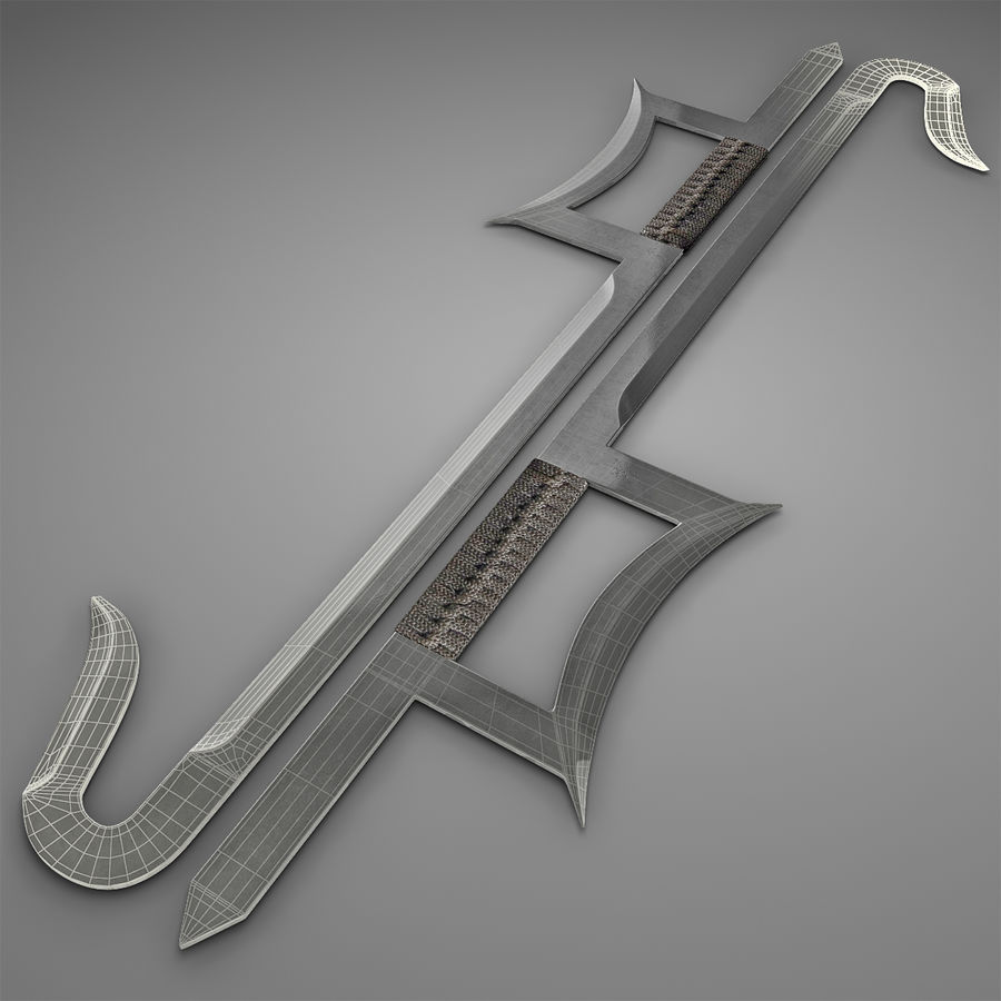 Hook Sword royalty-free 3d model - Preview no. 4