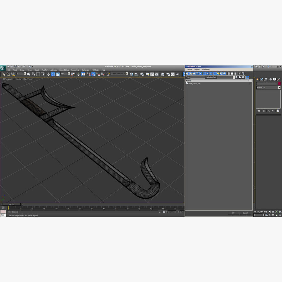 Hook Sword royalty-free 3d model - Preview no. 17