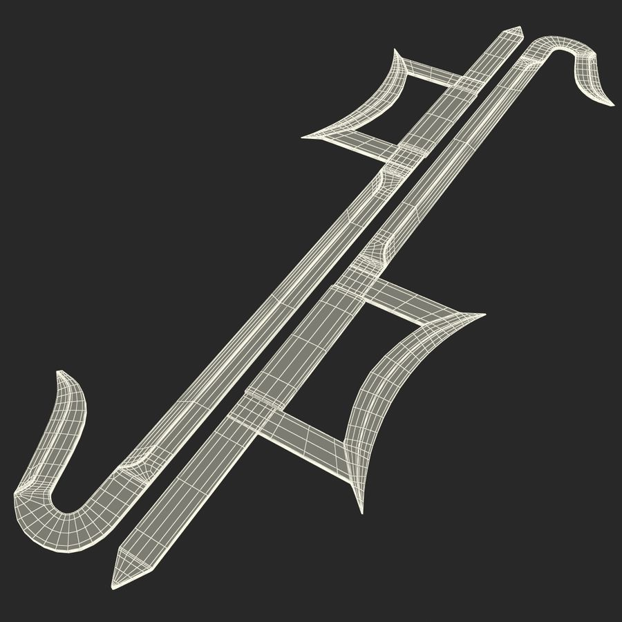 Hook Sword royalty-free 3d model - Preview no. 9