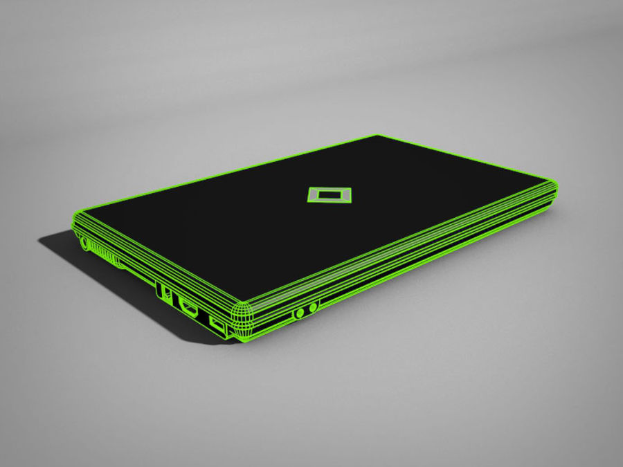 Laptop computer royalty-free 3d model - Preview no. 6