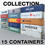Collezione di container 3d model