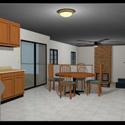 Casa mobiliada: Two Story: Totalmente Rigged 3d model