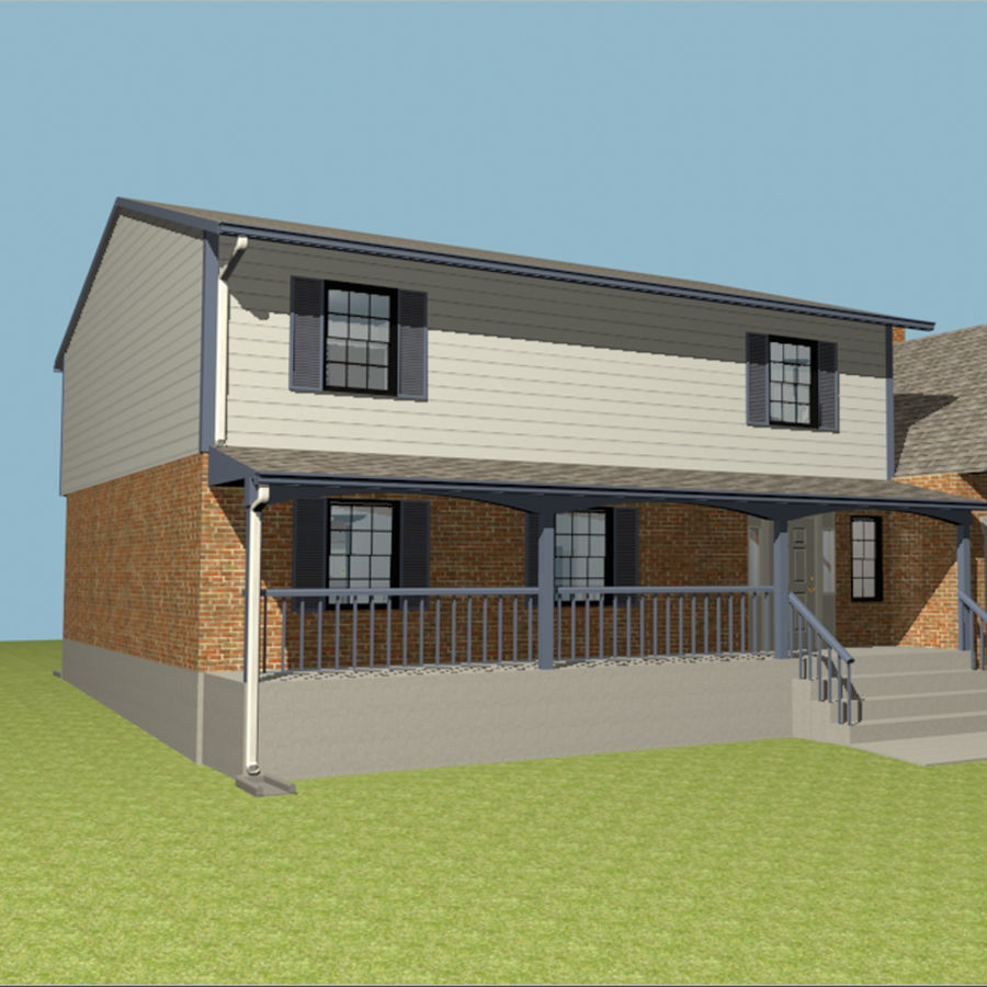 Furnished House Two Story Fully Rigged 3d Model 36 C4d