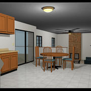 Furnished House: Two Story: Fully Rigged 3d model
