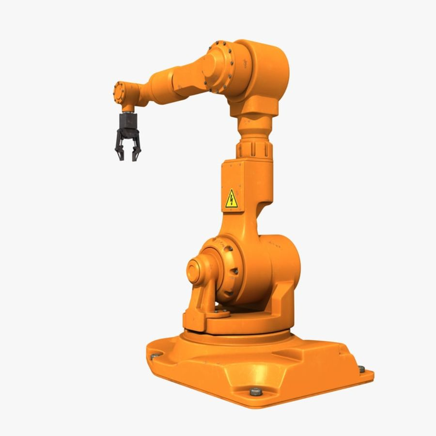 Industrial Robot Arm royalty-free 3d model - Preview no. 4