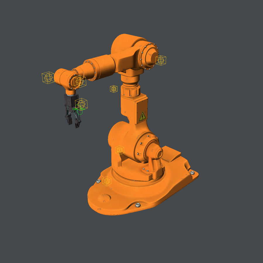 Industrial Robot Arm royalty-free 3d model - Preview no. 12