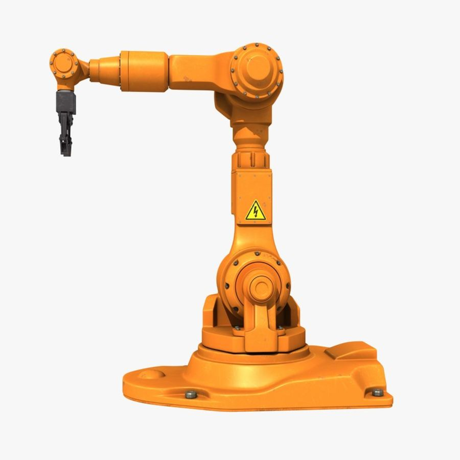 Industrial Robot Arm royalty-free 3d model - Preview no. 3