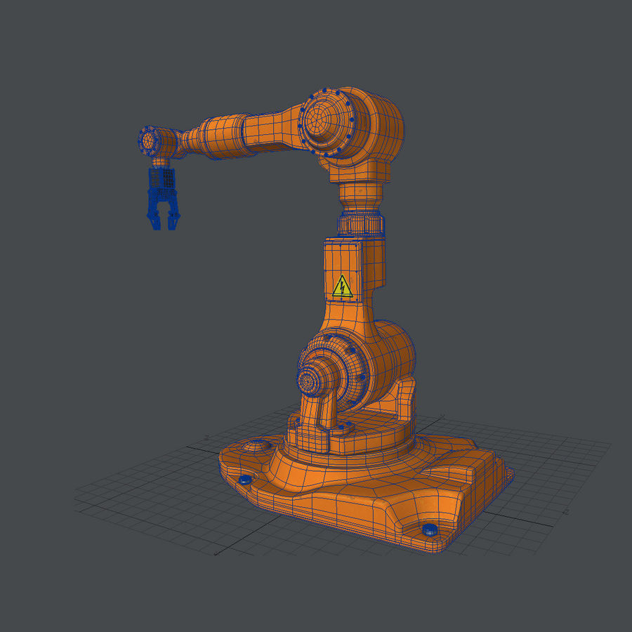 Industrial Robot Arm royalty-free 3d model - Preview no. 10
