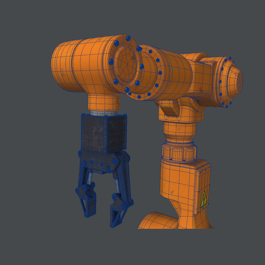 Industrial Robot Arm royalty-free 3d model - Preview no. 11