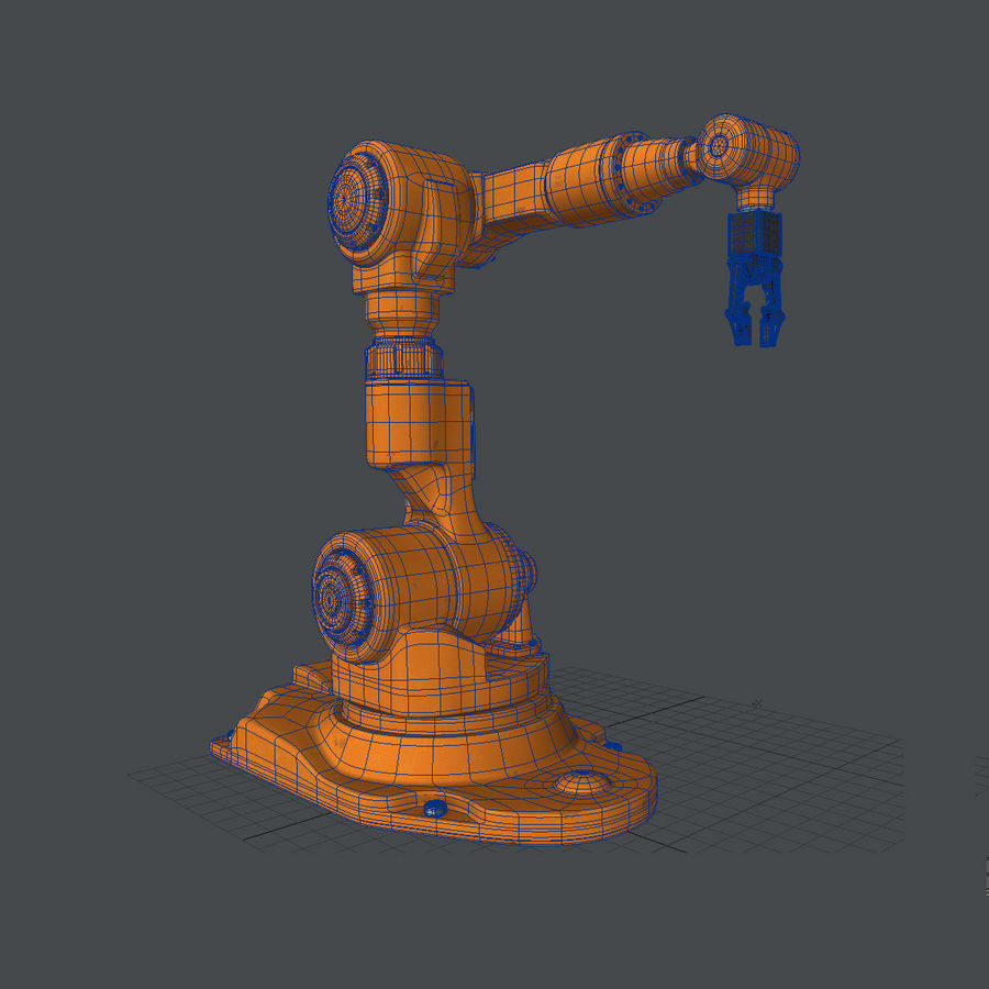 Industrial Robot Arm royalty-free 3d model - Preview no. 9