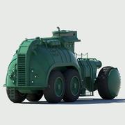 Camion de science-fiction 3d model