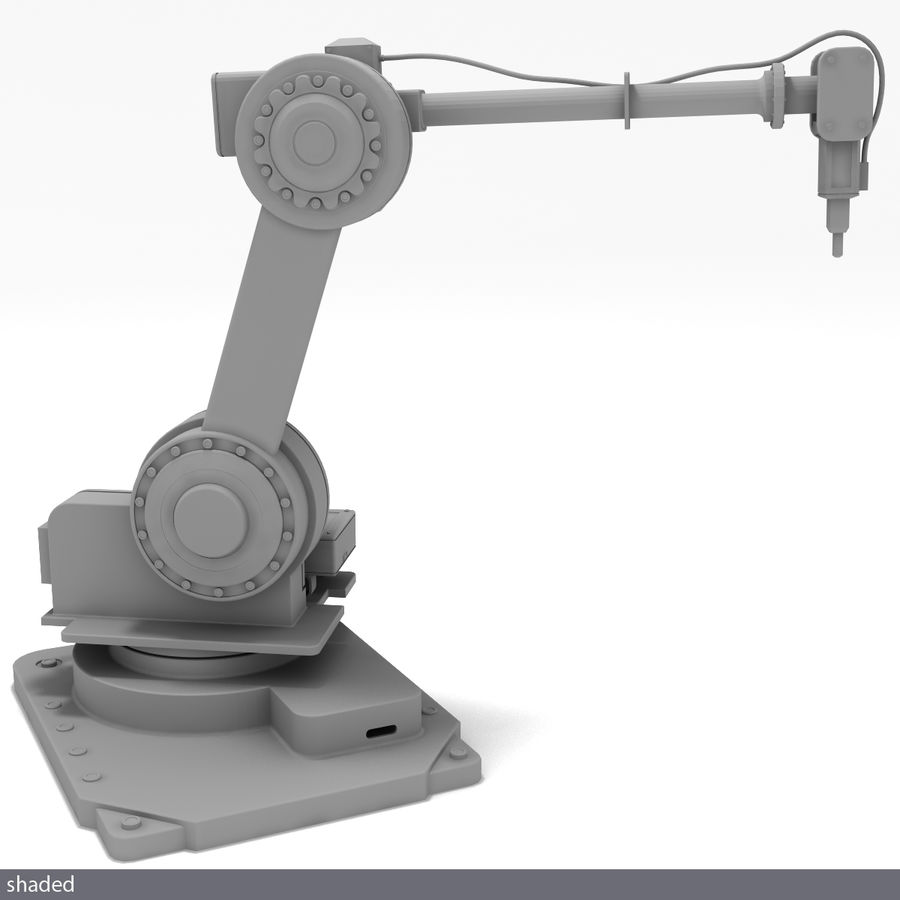 Robot arm royalty-free 3d model - Preview no. 7