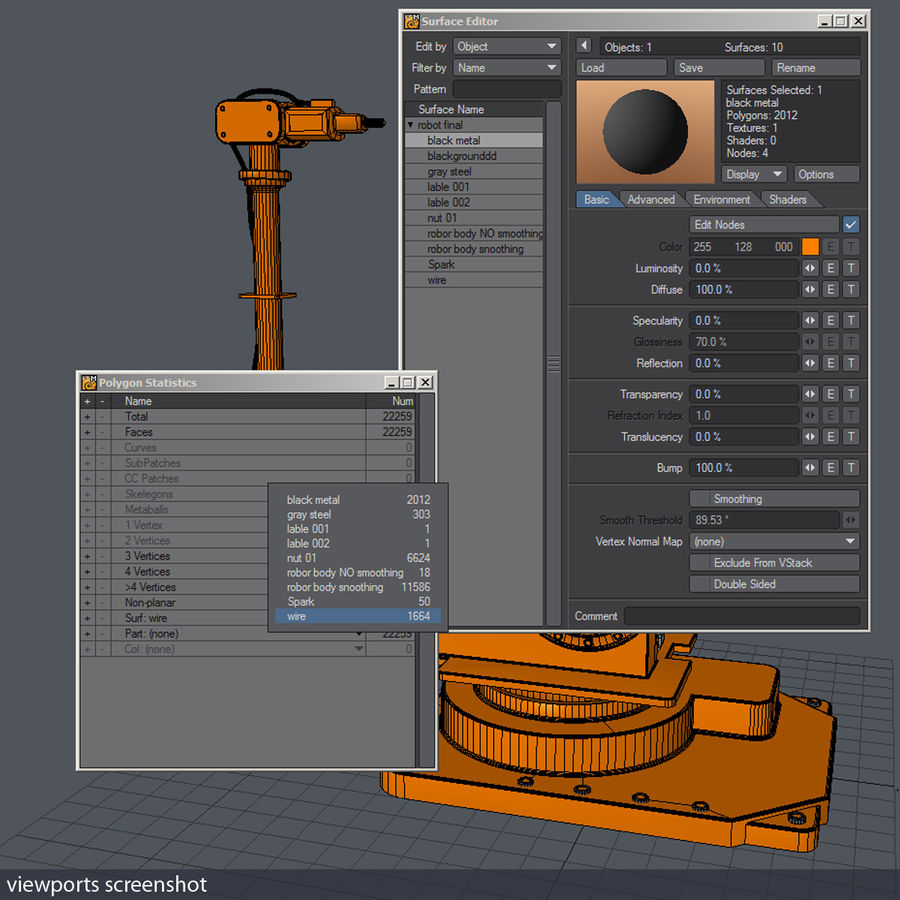 Robot arm royalty-free 3d model - Preview no. 8