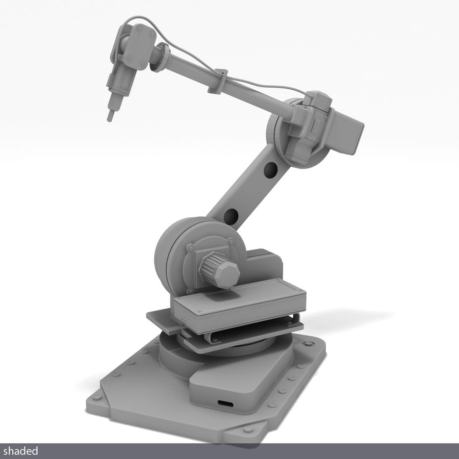 Robot arm royalty-free 3d model - Preview no. 6