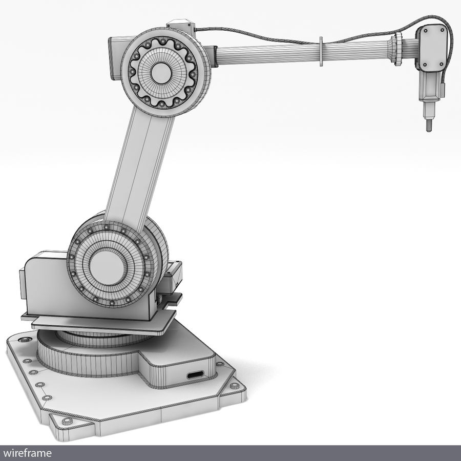 Robot arm royalty-free 3d model - Preview no. 5