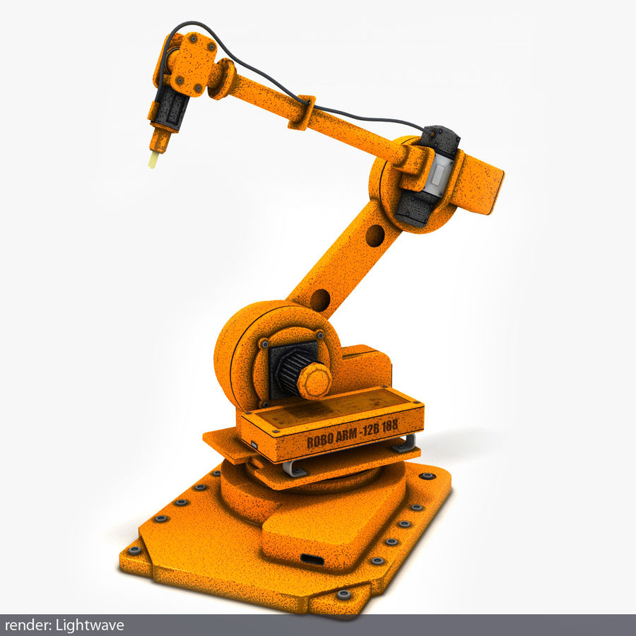 Robot arm royalty-free 3d model - Preview no. 1