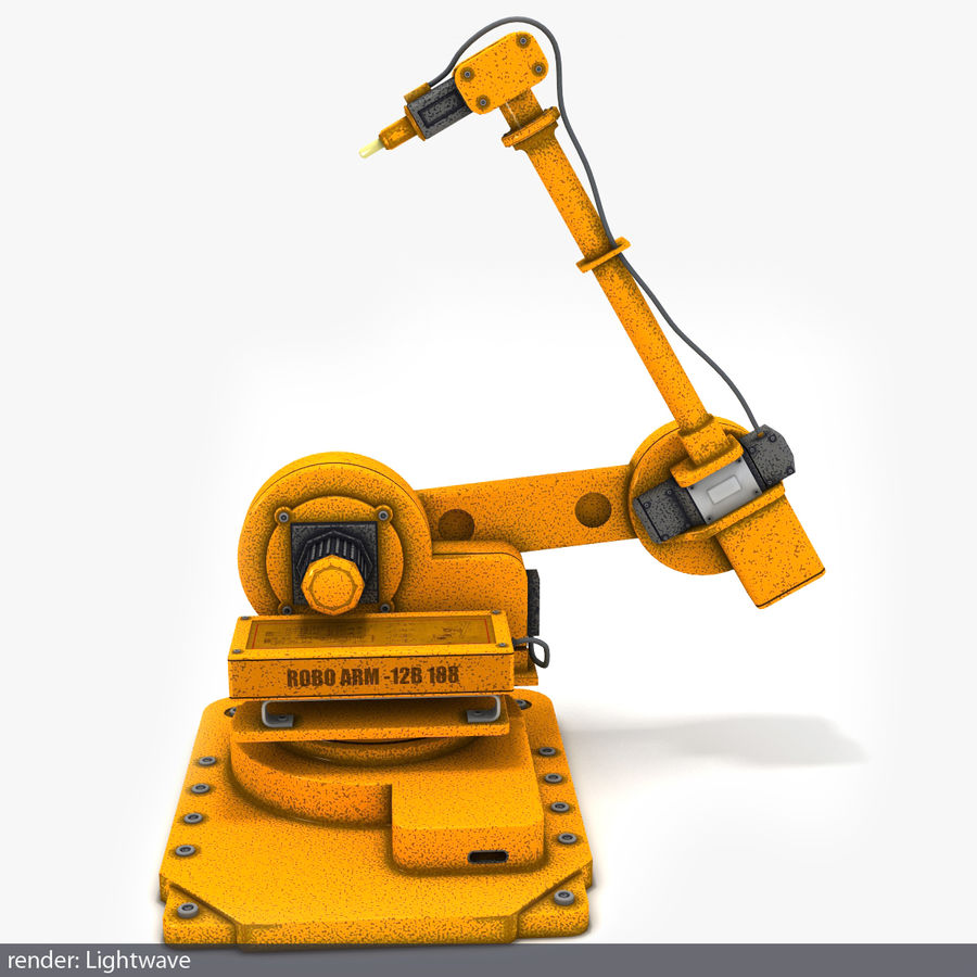 Robot arm royalty-free 3d model - Preview no. 3