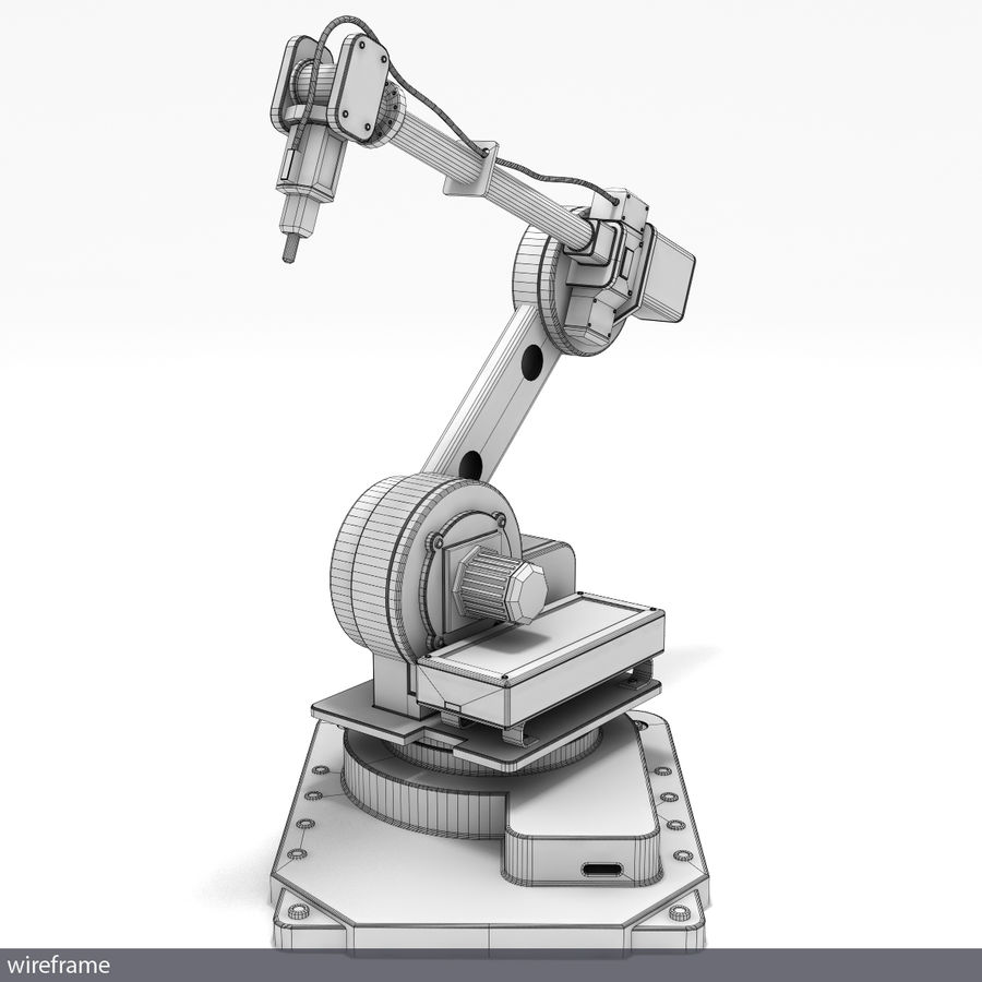 Robot arm royalty-free 3d model - Preview no. 4