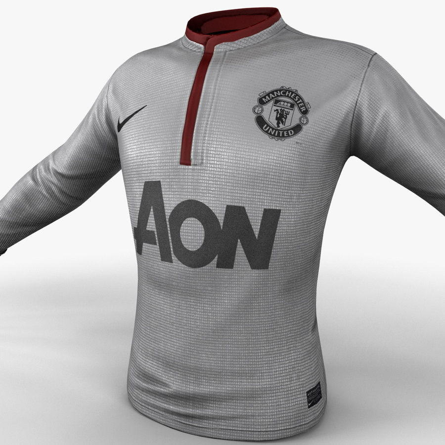 Camiseta de futbol 2 royalty-free modelo 3d - Preview no. 12