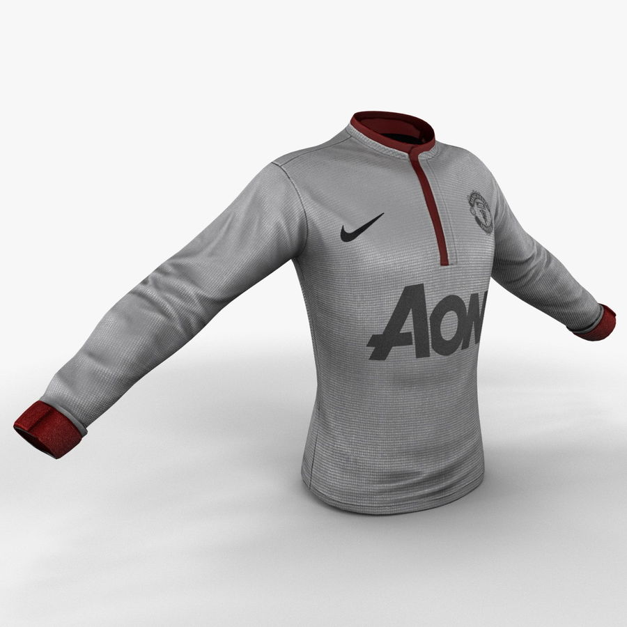 Soccer Shirt 2 royalty-free 3d model - Preview no. 4