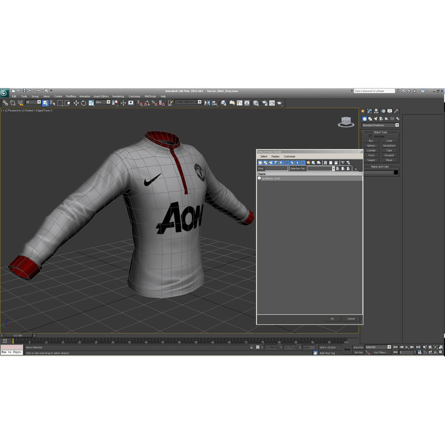 Soccer Shirt 2 royalty-free 3d model - Preview no. 31