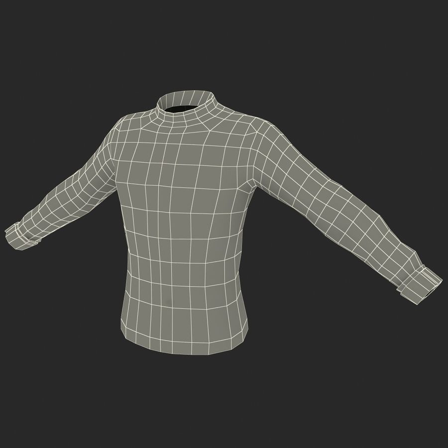 Soccer Shirt 2 royalty-free 3d model - Preview no. 23