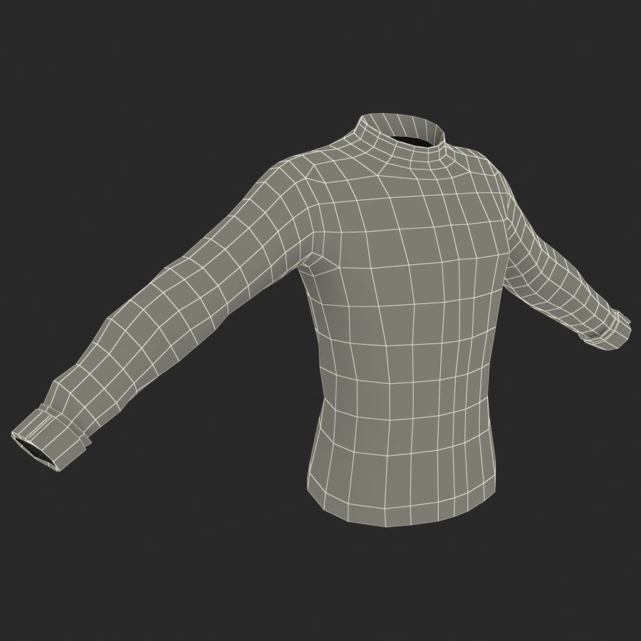 Soccer Shirt 2 royalty-free 3d model - Preview no. 17