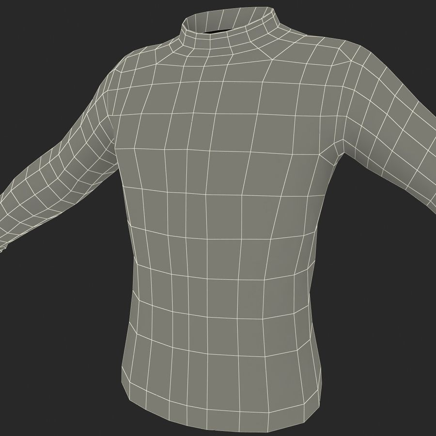 Soccer Shirt 2 royalty-free 3d model - Preview no. 25