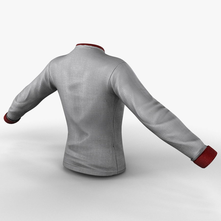 Soccer Shirt 2 royalty-free 3d model - Preview no. 6