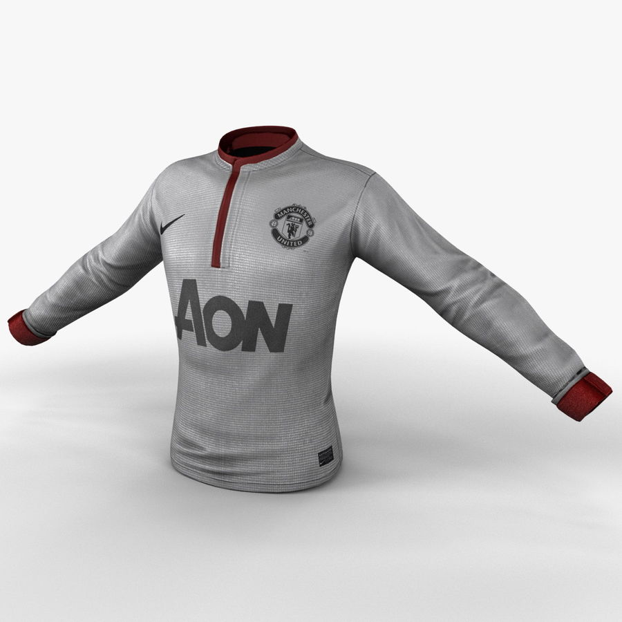 Soccer Shirt 2 royalty-free 3d model - Preview no. 10