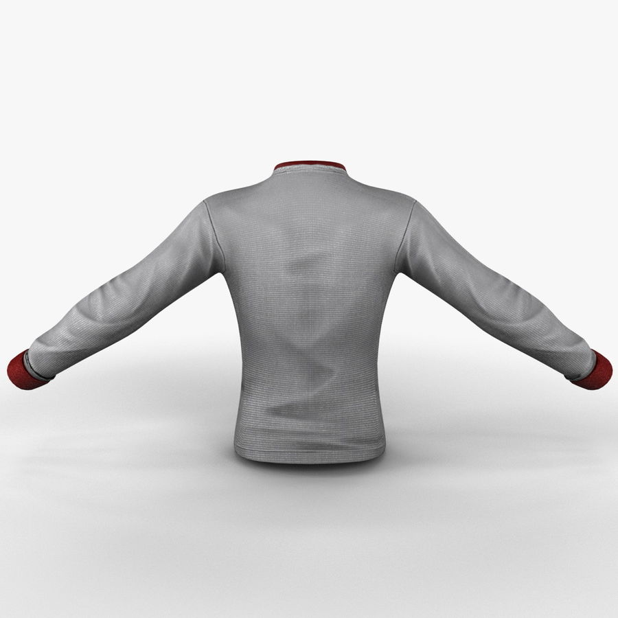 Soccer Shirt 2 royalty-free 3d model - Preview no. 7