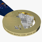Gold Olympic Medal Sochi 3d model