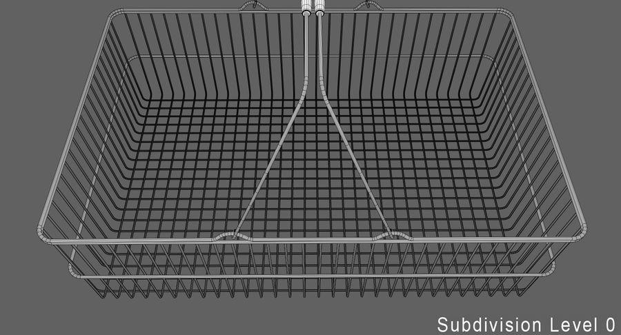Koszyk na zakupy royalty-free 3d model - Preview no. 11